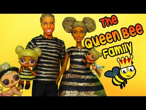 LOL Families ! The Queen Bee Family Gets a Glitterizer | Toys and Dolls Fun for Kids | SWTAD