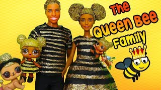 Barbie LOL Families ! The Queen Bee Family Gets a Glitterizer | Toys and Dolls Fun for Kids | SWTAD