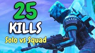 SOLO VS SQUAD IN SEASON 7 | First 20+ Kill Solo Squad win of the season