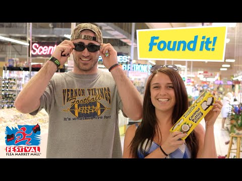 Pennsylvania couple on Spring Break Find the Festival Flea Market Mall and treats.