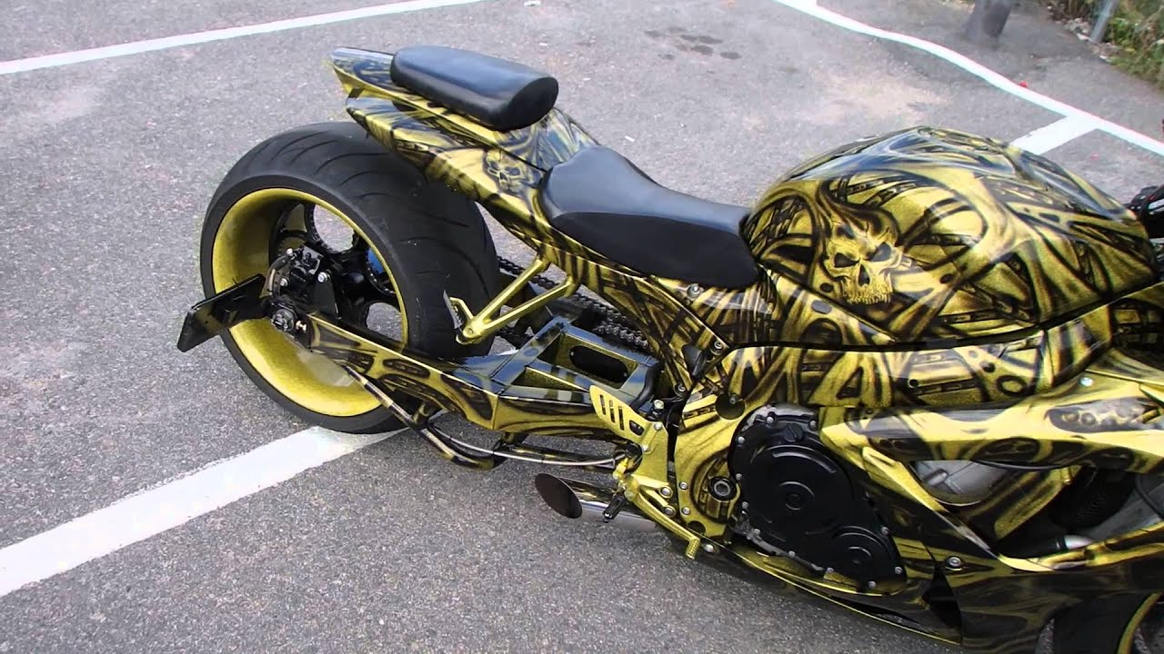 Gold dis member 06 suzuki gsxr 600 custom paint by break for How much for a paint job