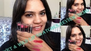 Wet n Wild Megalast Lip Swatches,Review & Demo - Indian/Tan/olive skin tones