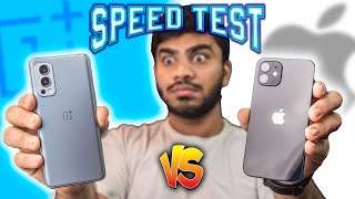 OnePlus Nord 2 vs iPhone 12 Speed Test Comparison - You Didn't Expected this RESULTS😱