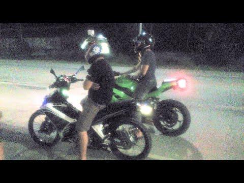 NINJA 250cc vs 135 LC Yamaha Sniper 178cc Drag race
