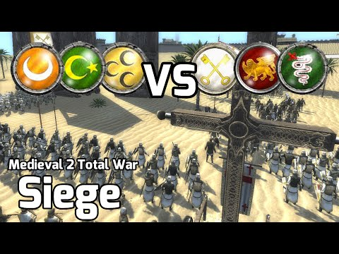 Medieval 2 Total War Online Battles #226 (3v3 Siege) - Jihad Defense