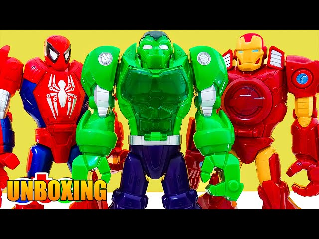 Playskool Heroes Marvel Iron Man Capt Amer Robot Hulk Dozer Wolverine Cycle Jet