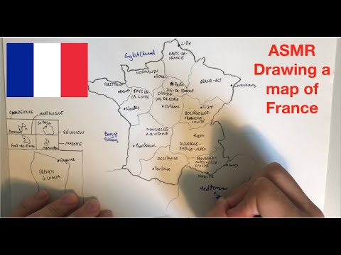 ASMR | Drawing A Map Of France | Whispered