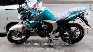 Yamaha FZS Fi V2 l  BS4 l Bike walkaround Review l 2017 l  Bangladesh..