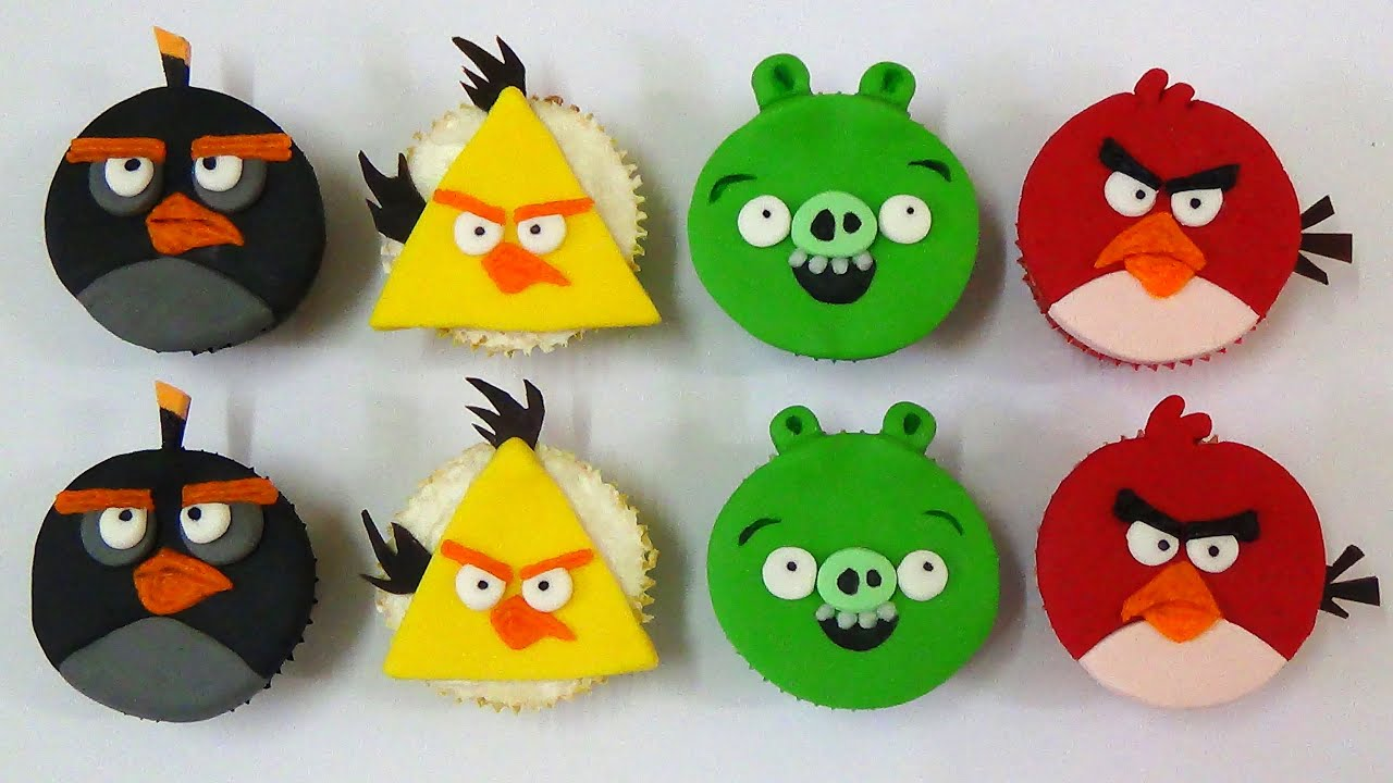 How To Make Angry Birds Cupcakes Youtube