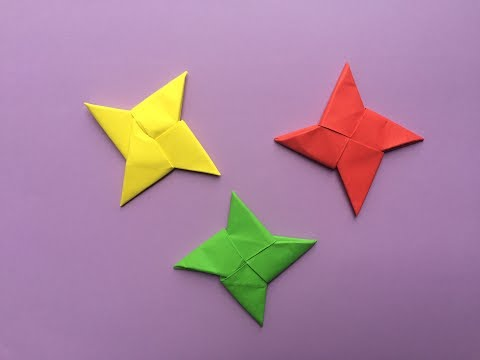 How to make a paper  ninja star | Origami Ninja Star Instructions