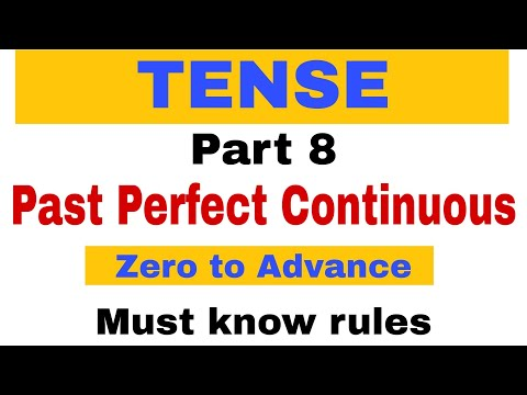 Past Perfect Continuous Tense | Tenses English Grammar | Part 8 | Must know rules | for Bank PO |