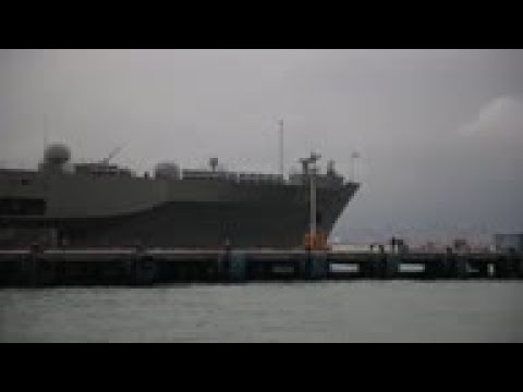 Oldest Ship In The US Navy Docks In Hong Kong