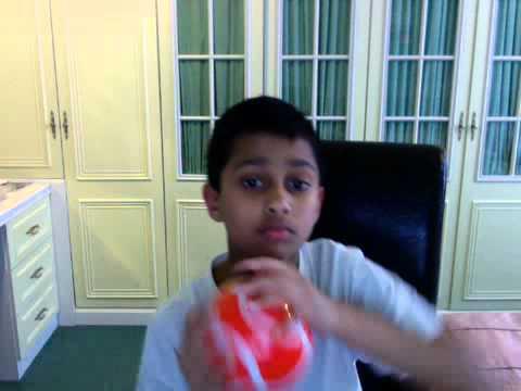 Opening Pringles mini football