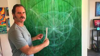 The Geometry of a Cannabis Leaf - A Sacred Geometry Painting Commission