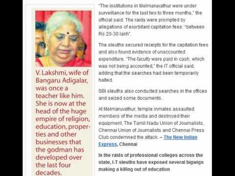 Bangaru Adigalar caught in IT raid – Media Reports | Bharata Bharati