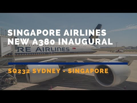 Singapore Airlines NEW A380 Inaugural Flight SQ232 Sydney - Singapore Business Class