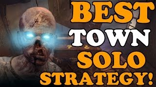Black Ops 2 Zombies: BEST TOWN High Round Solo Strategy! (BO2 Zombies Gameplay)