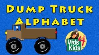 Dump Truck Alphabet - ABC Kids Alphabet With Dump Trucks