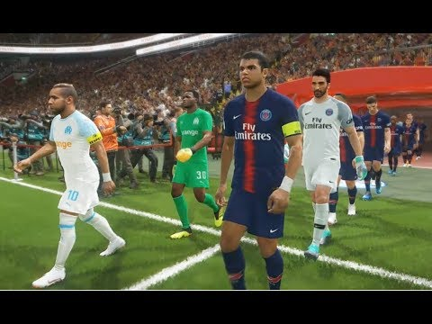 PSG vs OM - Gameplay Nouveaux Maillots 2019 PES 2018