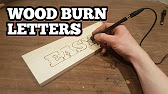 Wood burning 101 pyrography letters signs for the garden youtube 323 spiritdancerdesigns Images