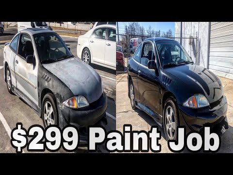 What Does A $299 Maaco Paint Job Really Look Like ?