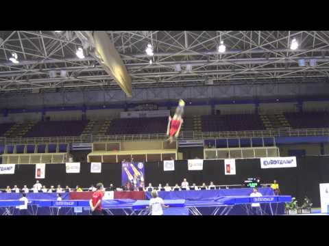 Loic Lenoir vol on trampoline at the Spain world cup
