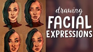 TRYING TO DRAW FACIAL EXPRESSIONS | Jenna Drawing