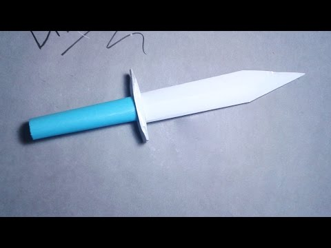 how to make a paper hitcher knife