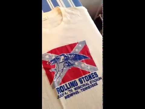 Rare Vintage Rolling Stones Tour of Americas T-Shirt. July 4th, 1975 Memphis, Tn