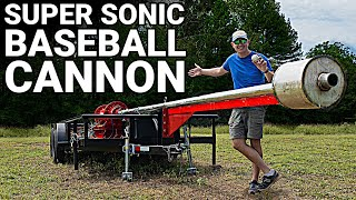 Building The SUPERSONIC BASEBALL Cannon  Behind the Scenes  Smarter Every Day