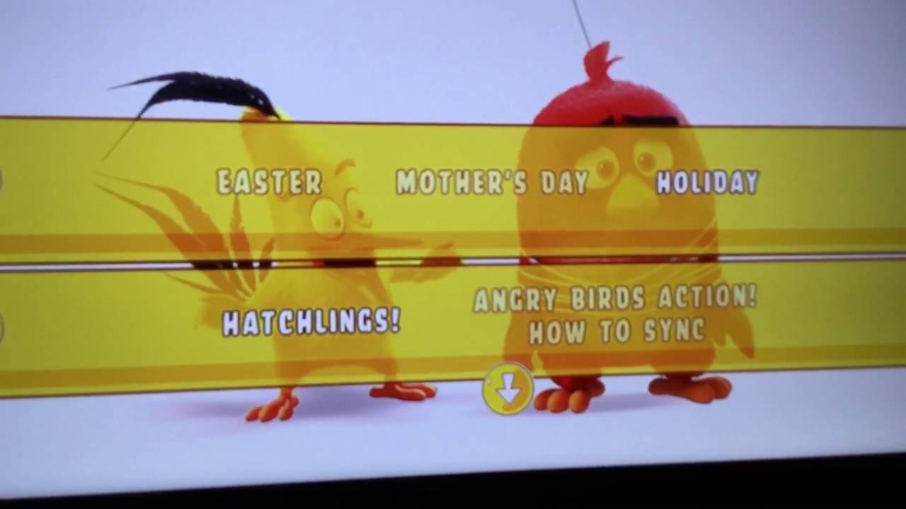 The Angry Birds Movie Bluray Dvd Main Menu Youtube