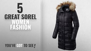 Sorel Women Fashion [2018 Best Sellers]: Sorel Tivoli Long Down Jacket - Women's (Medium, Black)