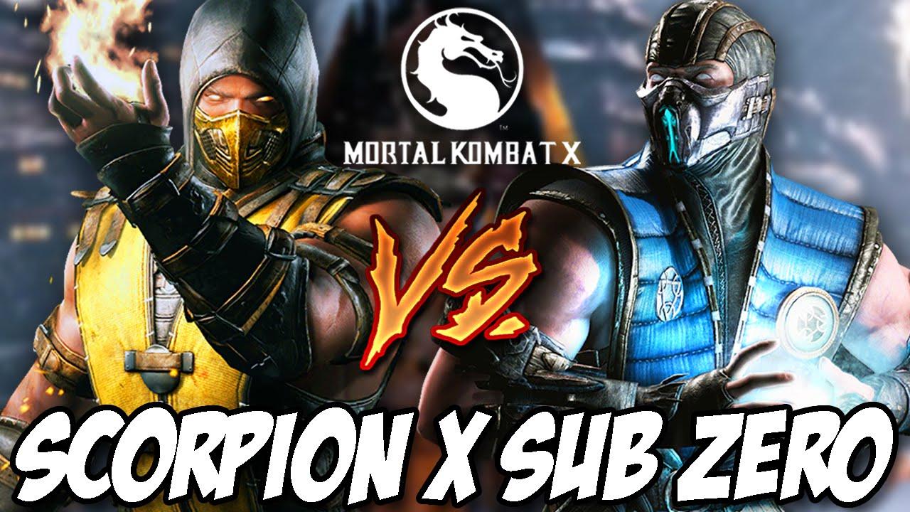 Mortal Kombat X Scorpion X Sub Zero Youtube
