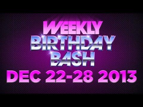 Celebrity Actor Birthdays - December 22 - 28, 2013 HD