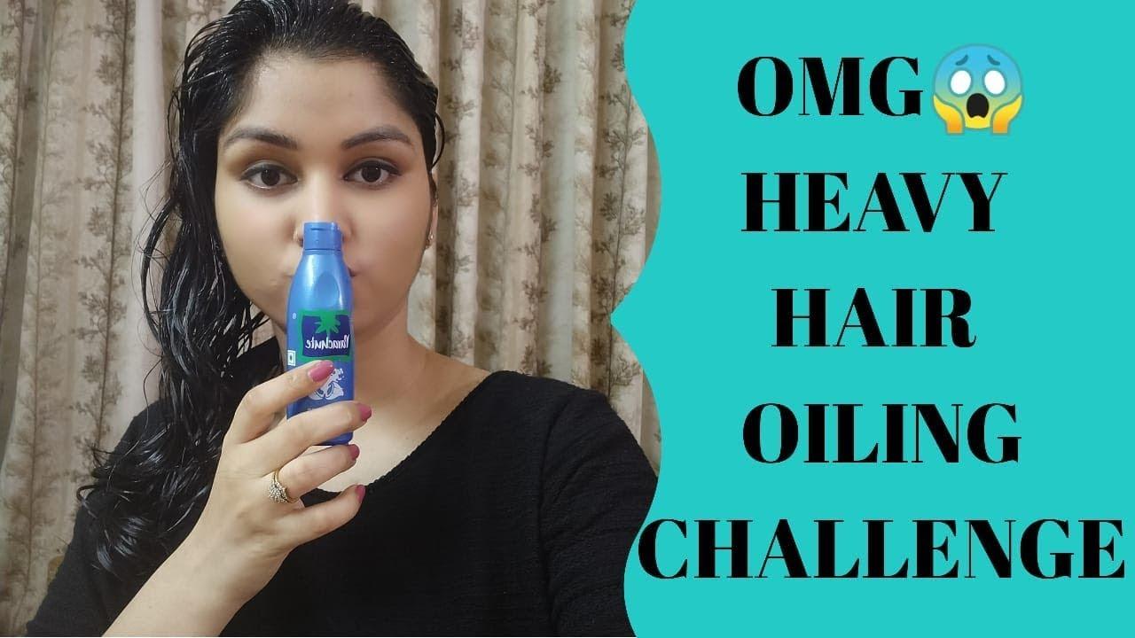 Heavy Hair Oiling Challenge Fully Hair Drenched Oiling Challenge 100 Ml Hair Oiling Challenge