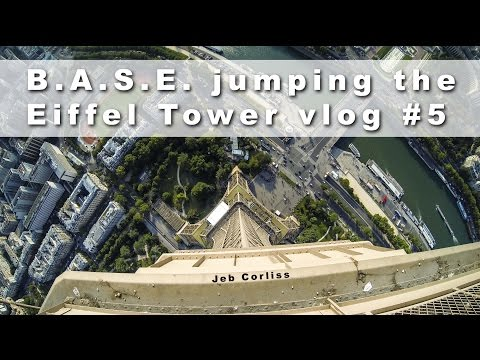 B.A.S.E. jumping the Eiffel Tower vlog#5
