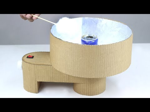How To Make A Cotton Candy Machine From Cardboard! DIY Cotton Candy