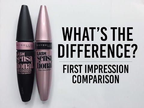7bc1c4a0627 Maybelline Lash Sensational Luscious Mascara Comparison - YouTube