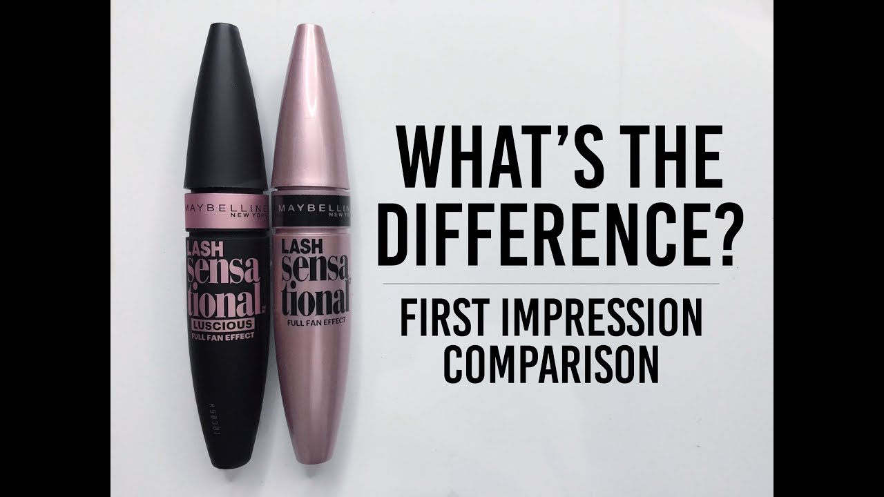 7bc1c4a0627 Maybelline Lash Sensational Luscious Mascara Comparison - YouTube