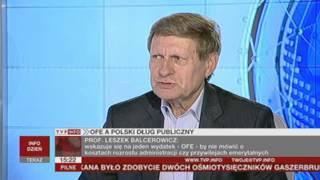 Prof. Leszek Balcerowicz o ofensywie rządu przeciw OFE (Rozmowa Dnia TVP Info, 09.07.2013)