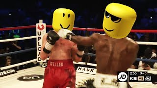 KSI VS JOE WELLER but its roblox family friendly content