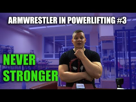 ARMWRESTLER IN POWERLIFTING TRAINING 2020 #3
