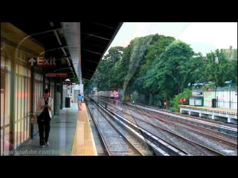 BMT Subway: R68A (B) Express and R160 (Q) at Avenue J