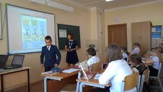 Фрагмент урока по русскому языку в 3 Б классе  Макарова М  Э  МБОУ Молоковская СОШ