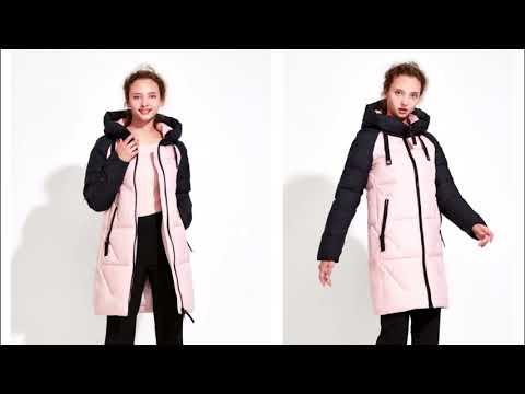Одежда с Aliexpress   ICEbear 2017 Зимняя куртка женская до колена для девушек