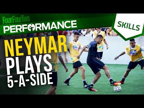 Neymar plays 5-a-side | Tricks and skills