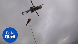 Dramatic moment Viking Sky's passengers are hoisted up to helicopter