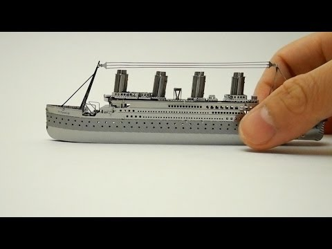 METAL TITANIC MODEL   nano puzzle