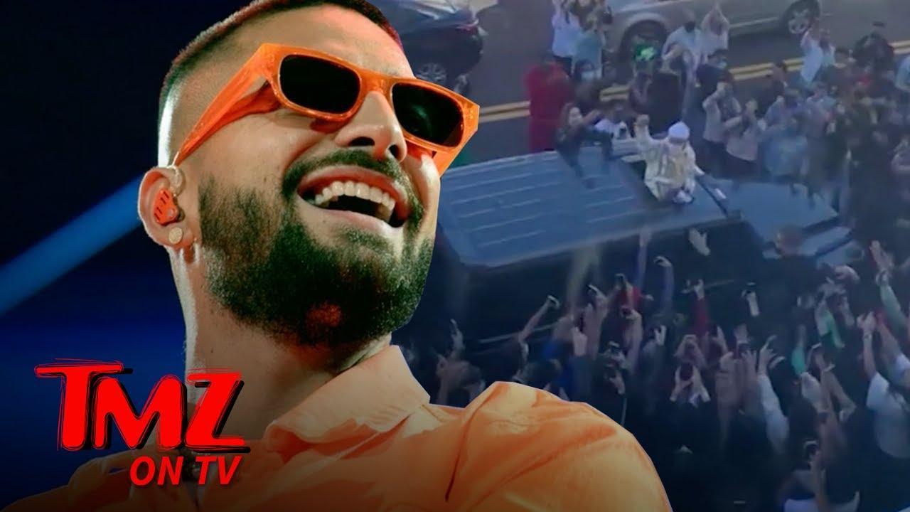 Maluma's Miami Meet-and-Greet Shut Down By Cops, Not COVID Safe | TMZ TV