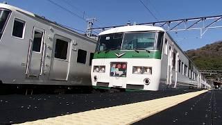 185系特急踊り子109号・河津駅出発